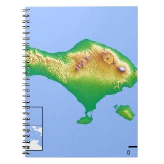 Caderno Mapa de Bali