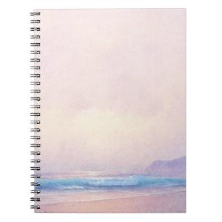 Caderno Mar do verão