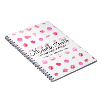 Caderno Marcagem com ferro quente cor-de-rosa da