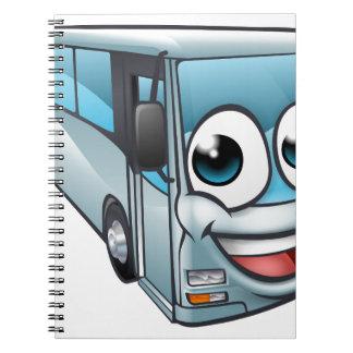 Caderno Mascote do personagem de desenho animado do ônibus