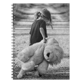 Caderno Menina e urso de ursinho doces