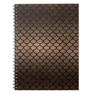 CADERNO METAL PRETO DO MÁRMORE SCALES1 & DO BRONZE (R)