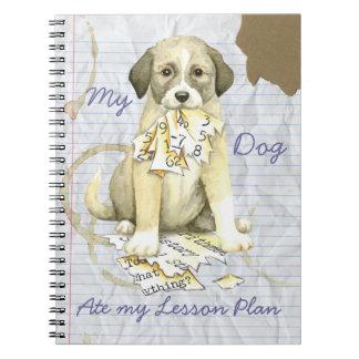 Caderno Meu anatólio comeu meu plano de aula