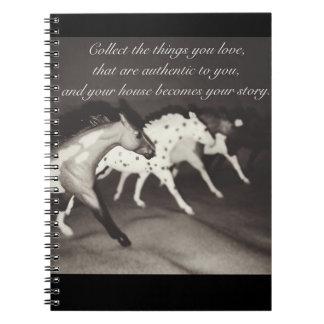 Caderno modelo dos coletores do amante do cavalo