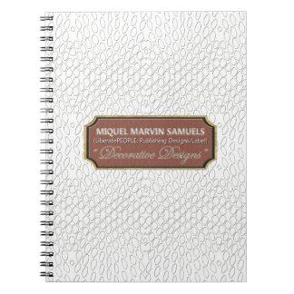 Caderno moderno branco do réptil Decorative#1-b