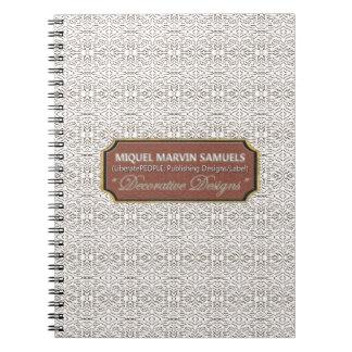 Caderno moderno cinzento branco decorativo dos