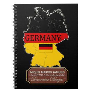 Caderno moderno da cor da bandeira do esboço do