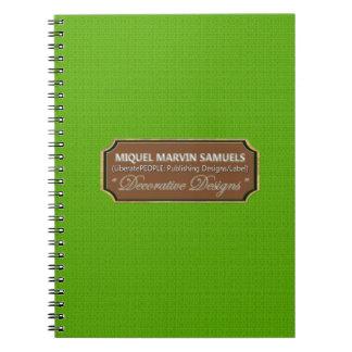 Caderno moderno decorativo do teste padrão da