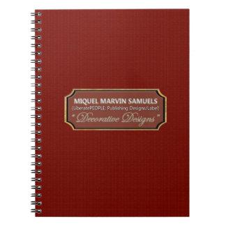 Caderno moderno decorativo do teste padrão de