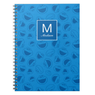 Caderno Monstro do biscoito | mim teste padrão azul