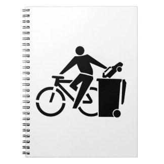 Caderno Monte uma bicicleta não um carro