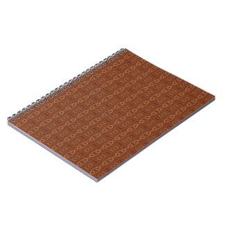 Caderno morno do teste padrão de Brown