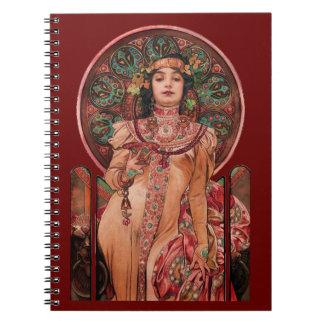 Caderno Mulher com vidro de Champagne