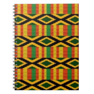Caderno Multi design africano do impressão do teste padrão