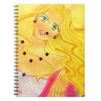 Caderno Espiral Caderno mundial de Brooklyn da mulher