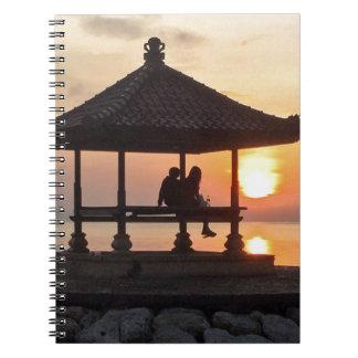 Caderno Nascer do sol em Bali