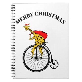 Caderno Natal de Papai Noel do girafa