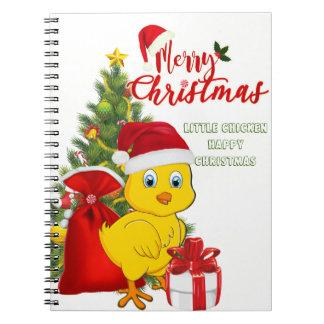 Caderno Natal pequeno da galinha do bebê