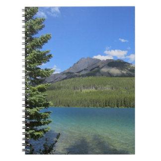 Caderno natural da paisagem de Banff