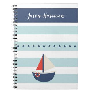 Caderno náutico bonito do barco de navigação