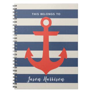 Caderno náutico bonito do marinheiro