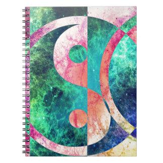Caderno Nebulosa abstrata de Yin Yang