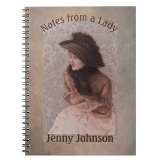 Caderno Notas de uma senhora Victorian Vintage