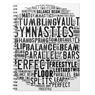 Caderno Nuvem da palavra da ginástica