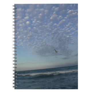 Caderno Nuvens da praia