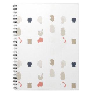 Caderno O abstrato dá forma ao teste padrão nas cores