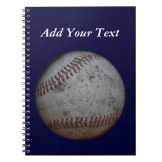 Caderno O basebol dos azuis marinhos adiciona a escola