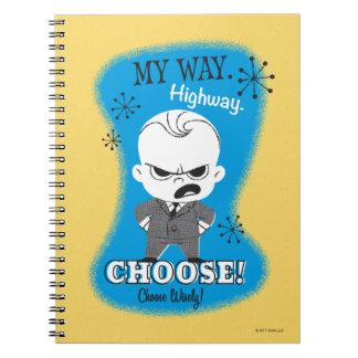 Caderno O bebê do chefe | minha maneira. Estrada