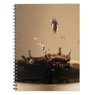 Caderno O café espirra