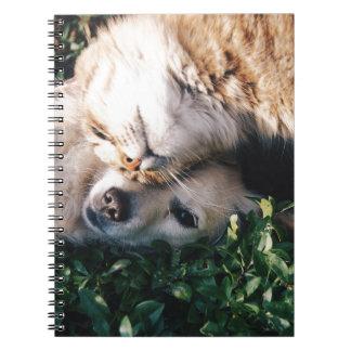 Caderno O cão ama o gatinho