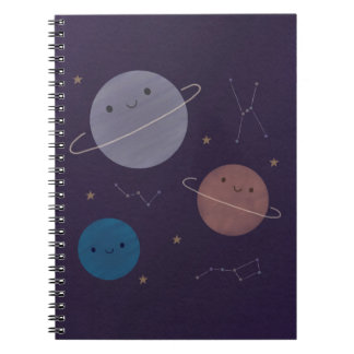 Caderno O espaço de Kawaii