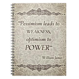 Caderno O pessimismo conduz à fraqueza - Quote´s positivo