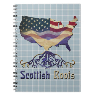 Caderno O Scottish americano enraíza o bloco de notas