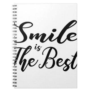 Caderno O sorriso é o melhor