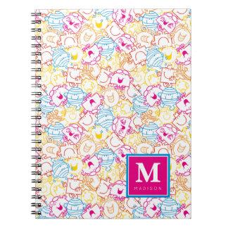 Caderno O teste padrão | das cores do néon adiciona seu