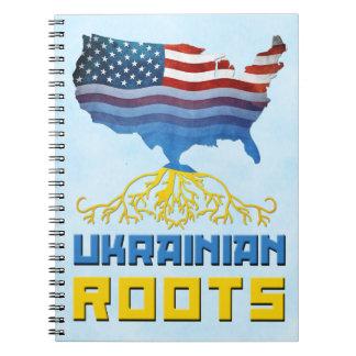 Caderno O ucraniano americano enraíza o bloco de notas