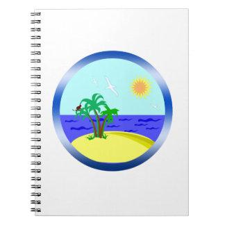 Caderno Oceano e luz solar