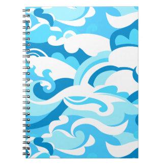 Caderno Ondas abstratas do surf