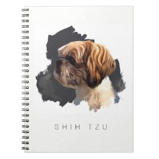 Caderno original da arte de Shih Tzu
