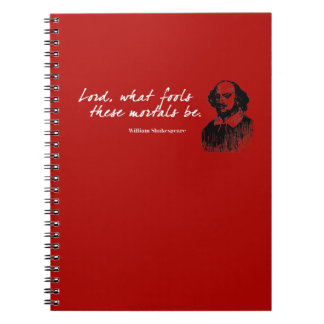 Caderno Os tolos de William Shakespeare citam o presente