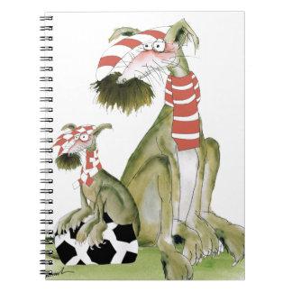 Caderno os vermelhos do futebol, como o pai gostam do