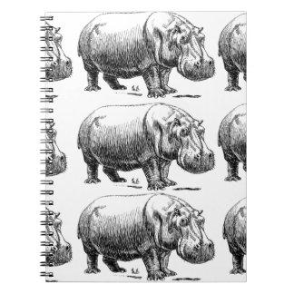 Caderno ouro do hippopotamus