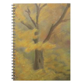 Caderno Ouro do outono