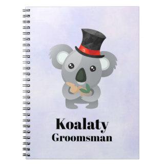 Caderno Padrinho de casamento bonito de Koalaty da chalaça