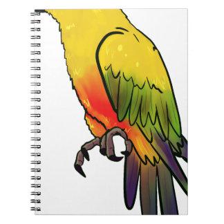 Caderno Papagaio colorido