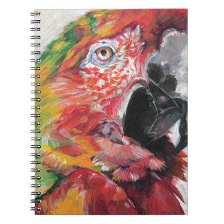 Caderno Papagaio vermelho
